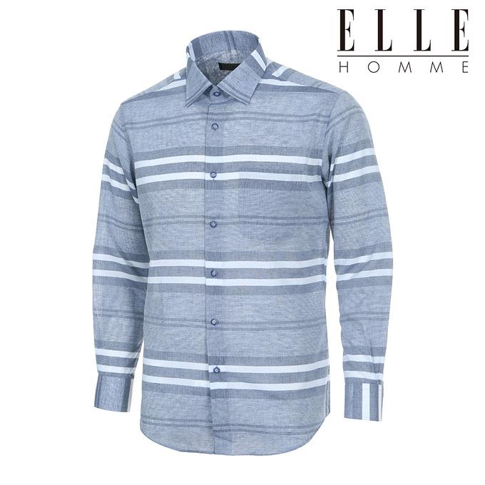 [엘르옴므] 가격인하 여름용 린넨혼방 위사스트라이프 레귤러핏 긴소매셔츠 EAIPR-63142