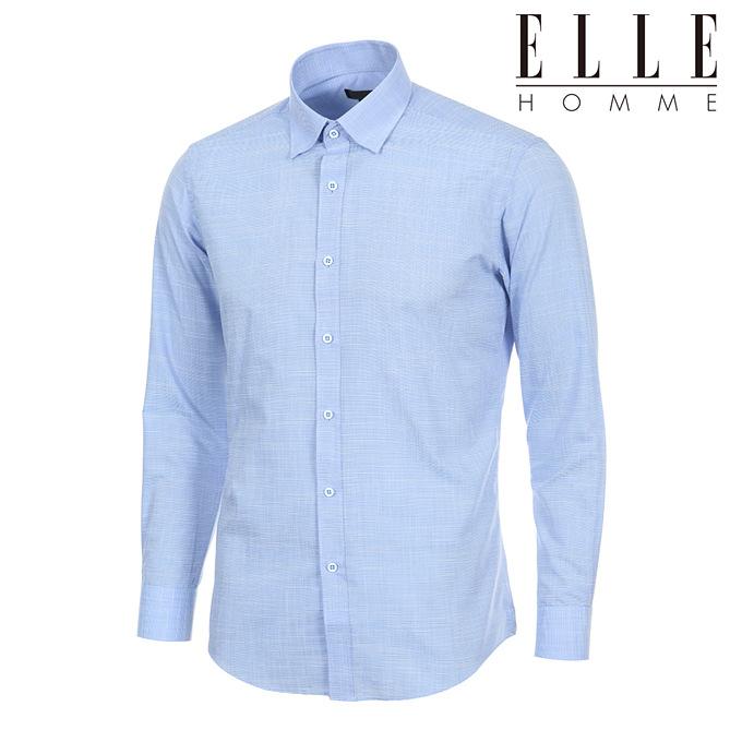 [엘르옴므] 쿨맥스 여름용 스냅버튼 위사ST슬러브 슬림핏 긴소매셔츠 EAIPS-63592